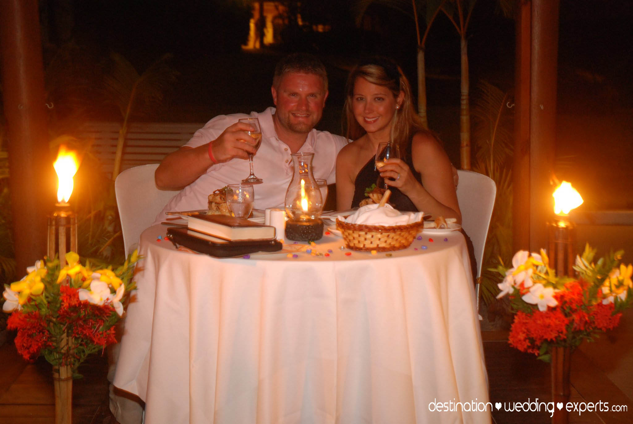 Tropical Island Candle Light Dinner