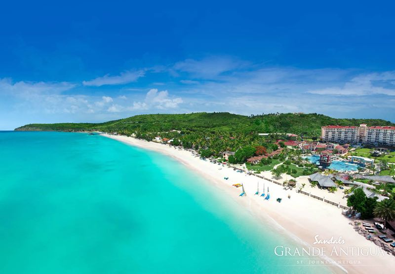 Sandals grande antigua travel agent destination weddings for Top caribbean honeymoon resorts