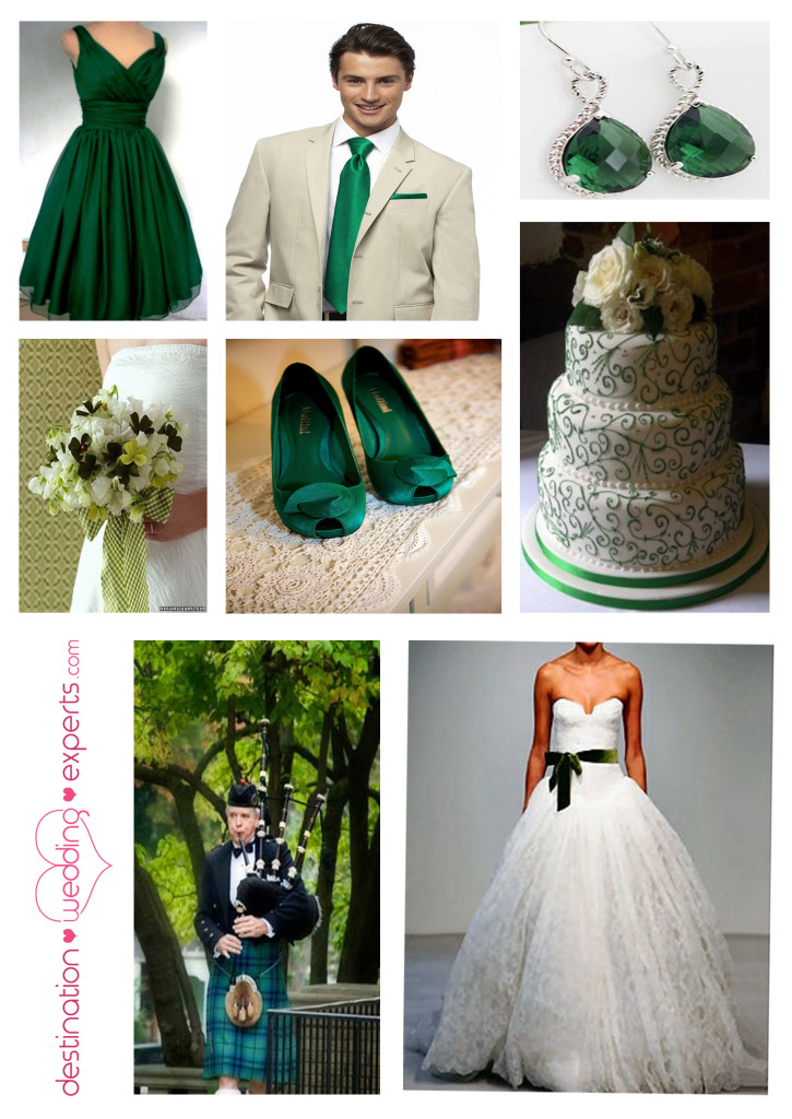 Emerald Green_St. Patrick's Day Wedding_Wedding Colors