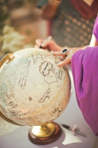 Non-Traditional Wedding Guest Book Idea, Wedding Guests Sign Globe