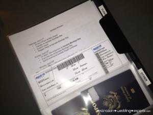 how to organize your travel documents, travel tips, travel agent, honeymoon, destination weddings