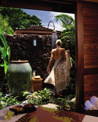 best honeymoon resorts with outdoor showers- Four Seasons Hualalai