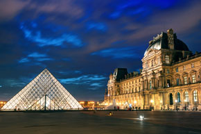 visit the Louvre Pyramid, Travel Leaders of Columbia