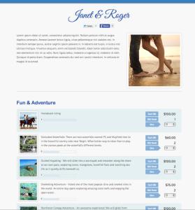 Travelers Joy Honeymoon Registry Theme