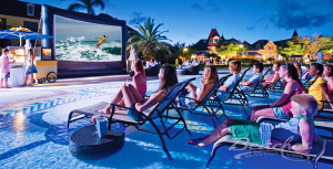 All-Inclusive Holiday Travel for Families at Beaches Turks And Caicos Outdoor Movie