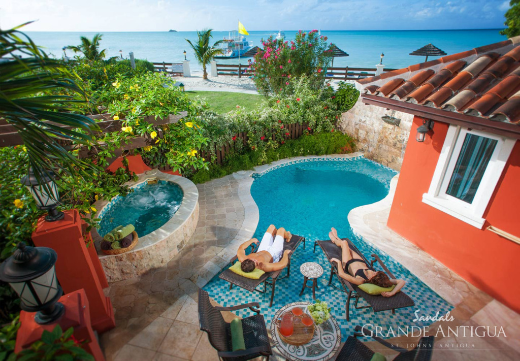 Honeymoon in Antigua - Sandals Grande Antigua Resort and Spa Private Plunge Pool