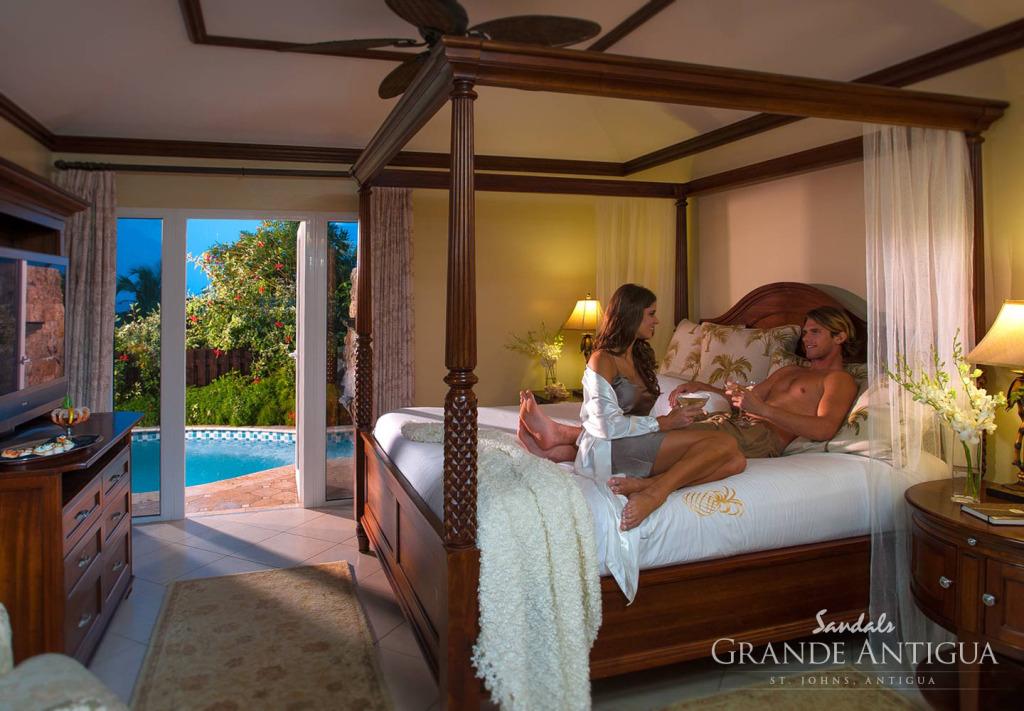 Honeymoon in Antigua - Sandals Grande Antigua Resort and Spa Bedroom