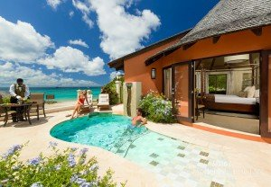 sandals st. lucian pool with outdoor shower