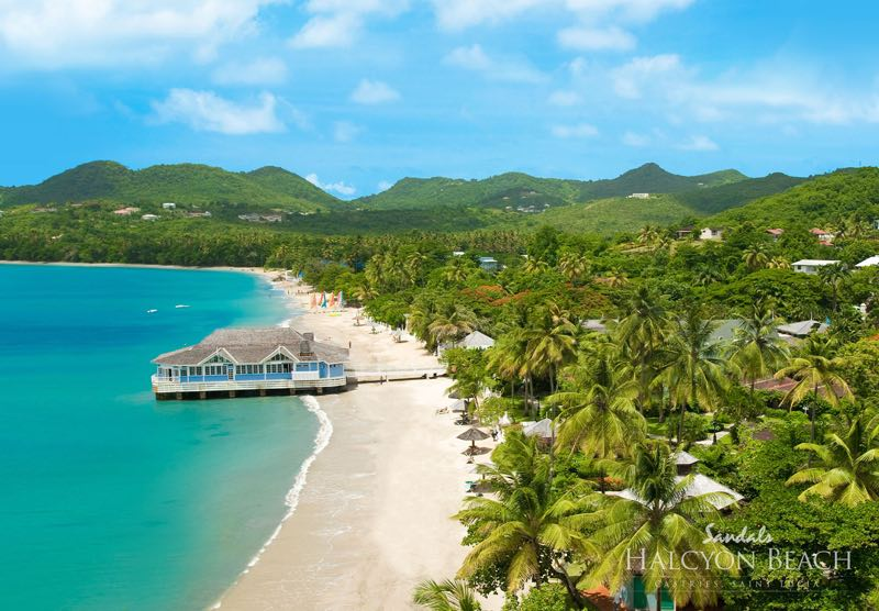 Top Caribbean Resorts - Sandals Halcyon Beach St. Lucia