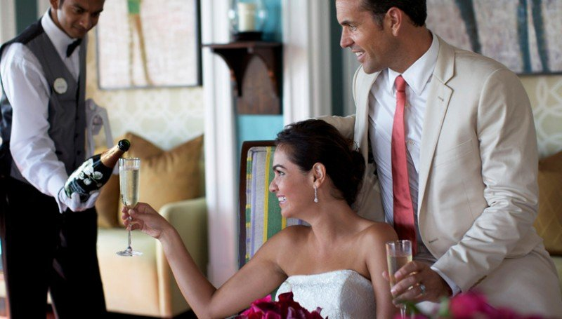 Bride and Groom Tasting at Example Image of Perfect Destination Wedding-Setting