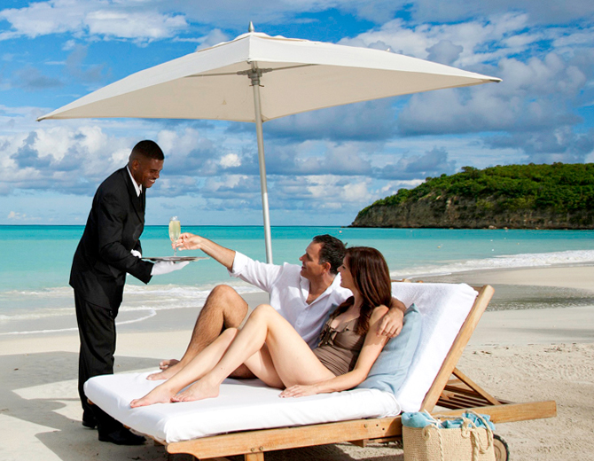 Beach Butler Service at Sandals