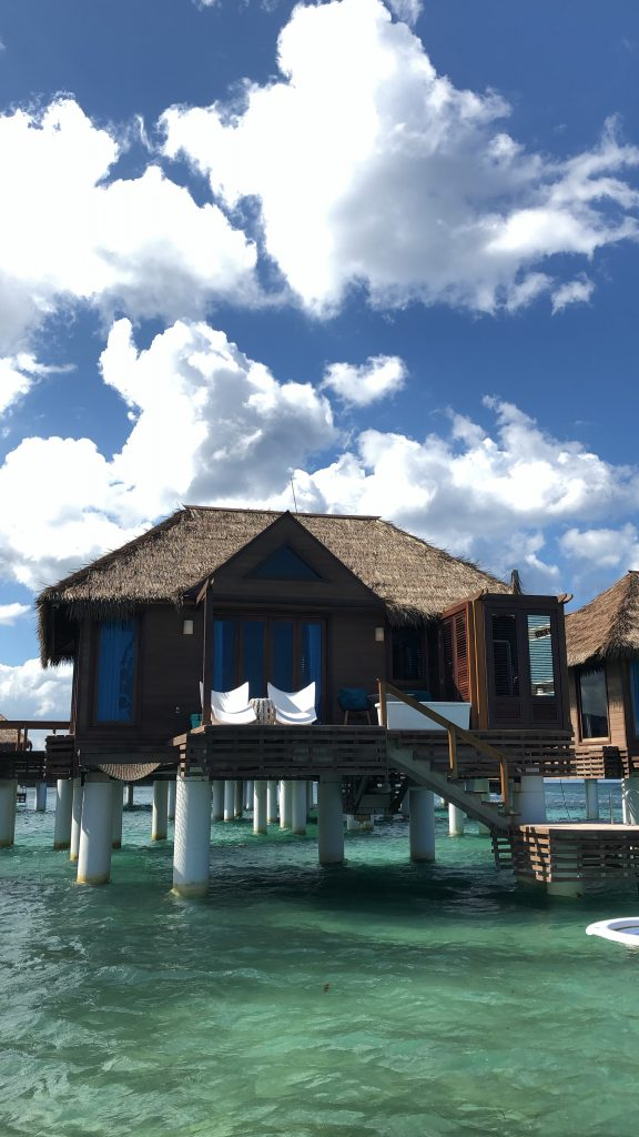 outside view of Sandals all-inclusive overwater bungalow