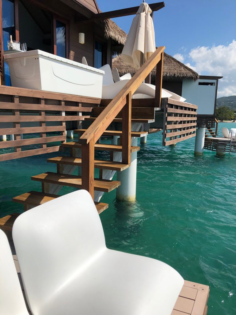 Steps from the Caribbean in an overwater bungalow