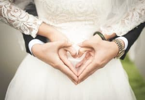 wedding heart hands header