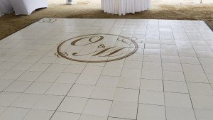O'Teesha and Mark's wedding package included a personalized dance floor!