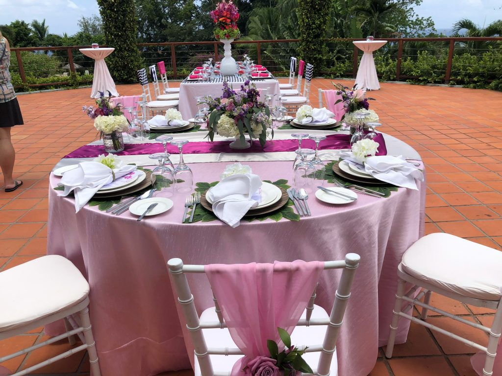 pink table settings