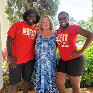 Eileen with Derrick and Yolanda